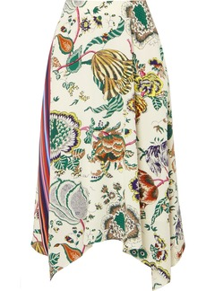 Tory Burch Marie Printed Silk Crepe De Chine Midi Skirt