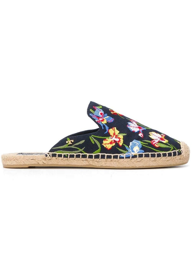 Tory Burch Max embroidered espadrille sandals