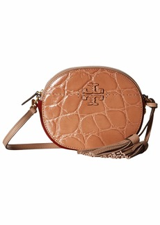 Tory Burch Mcgraw Embossed Round Crossbody
