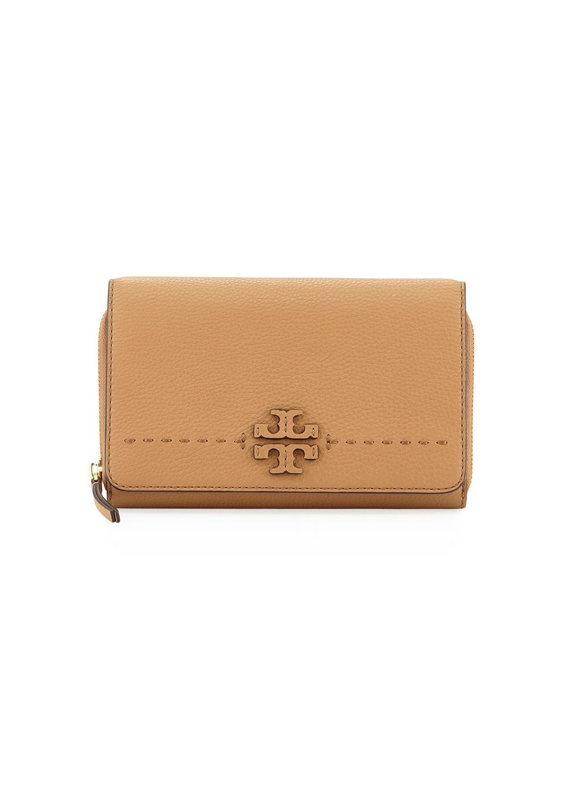 36956011066a56 Tory Burch McGraw Flat Crossbody Wallet Bag