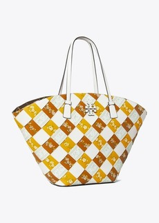 Tory Burch McGraw Floral Woven Shopper Tote