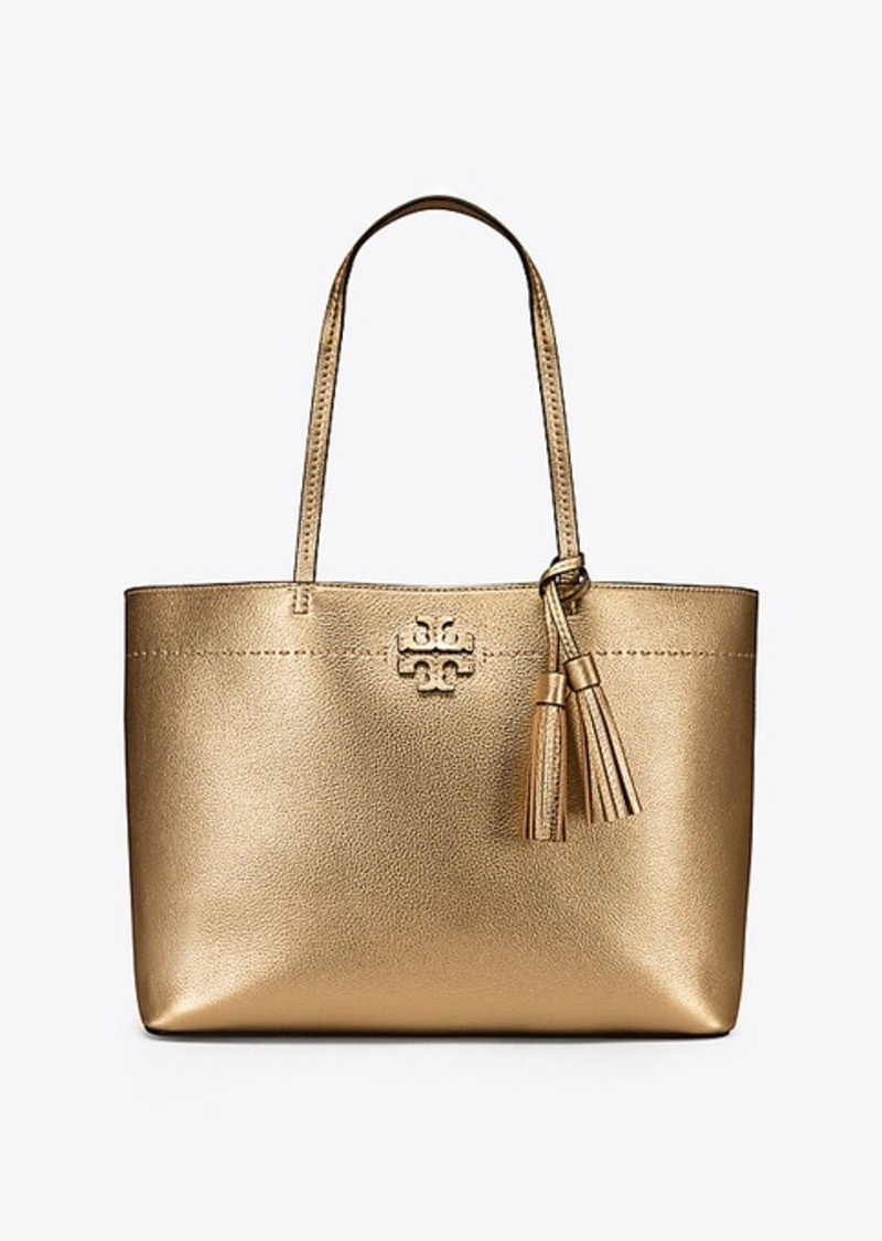 466cee08ef1 SALE! Tory Burch MCGRAW METALLIC TOTE