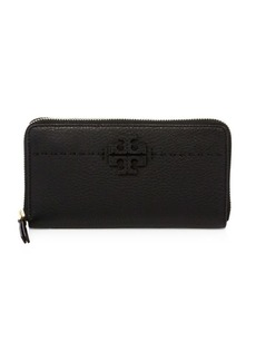 Tory Burch McGraw Zip Leather Continental Wallet