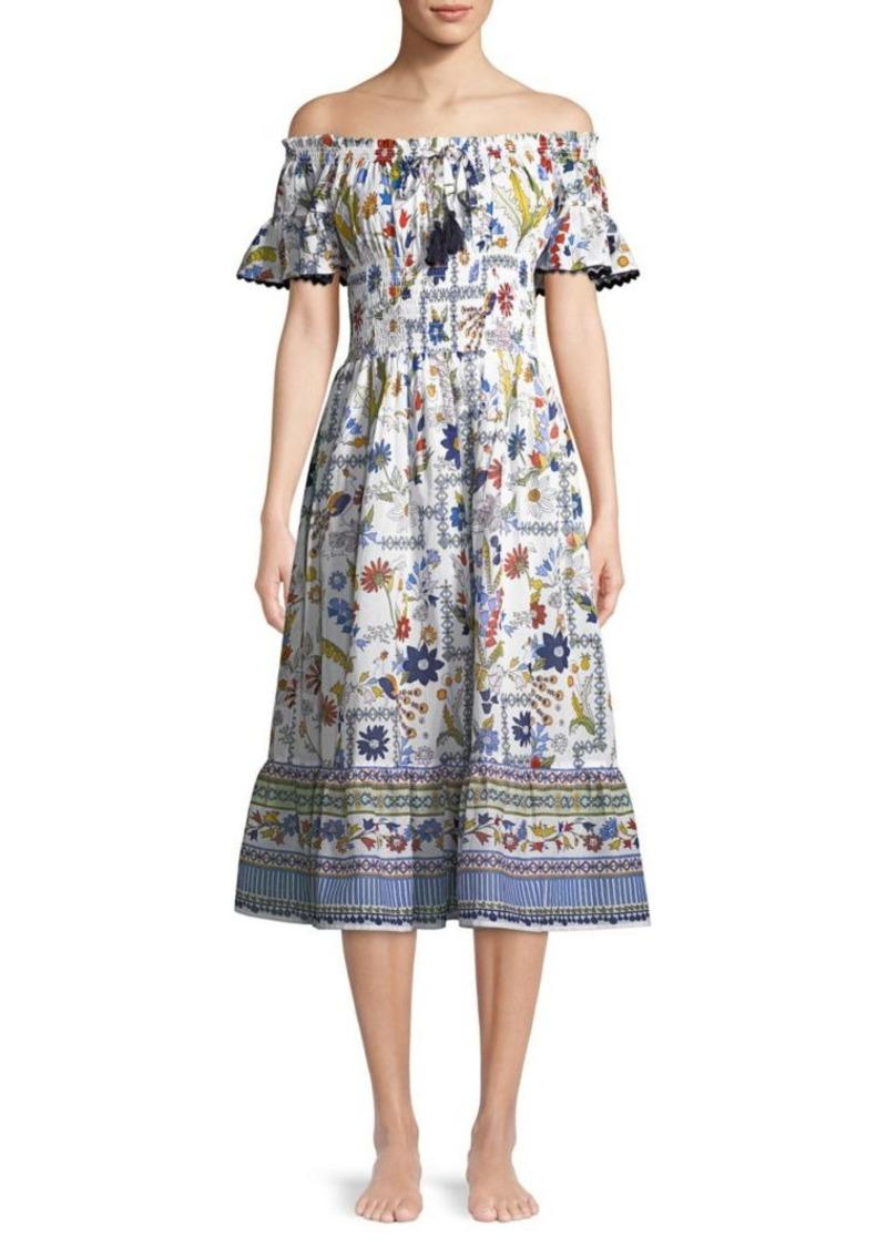 db2a4fa948 Tory Burch Meadow Folly Off-The-Shoulder Cotton Dress | Swimwear