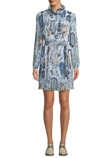 Tory Burch Mel High-Neck Paisley Dress