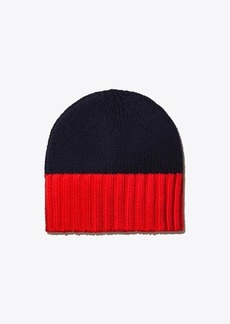 Tory Burch Merino Color-Block Hat