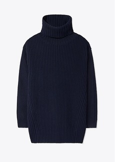 Tory Burch MERINO OVERSIZED TURTLENECK SWEATER