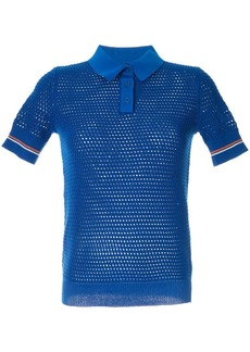 Tory Burch mesh knitted polo