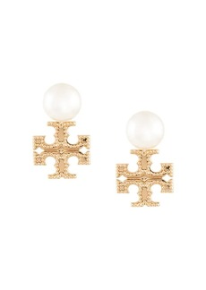 Tory Burch milgrain pearl earrings