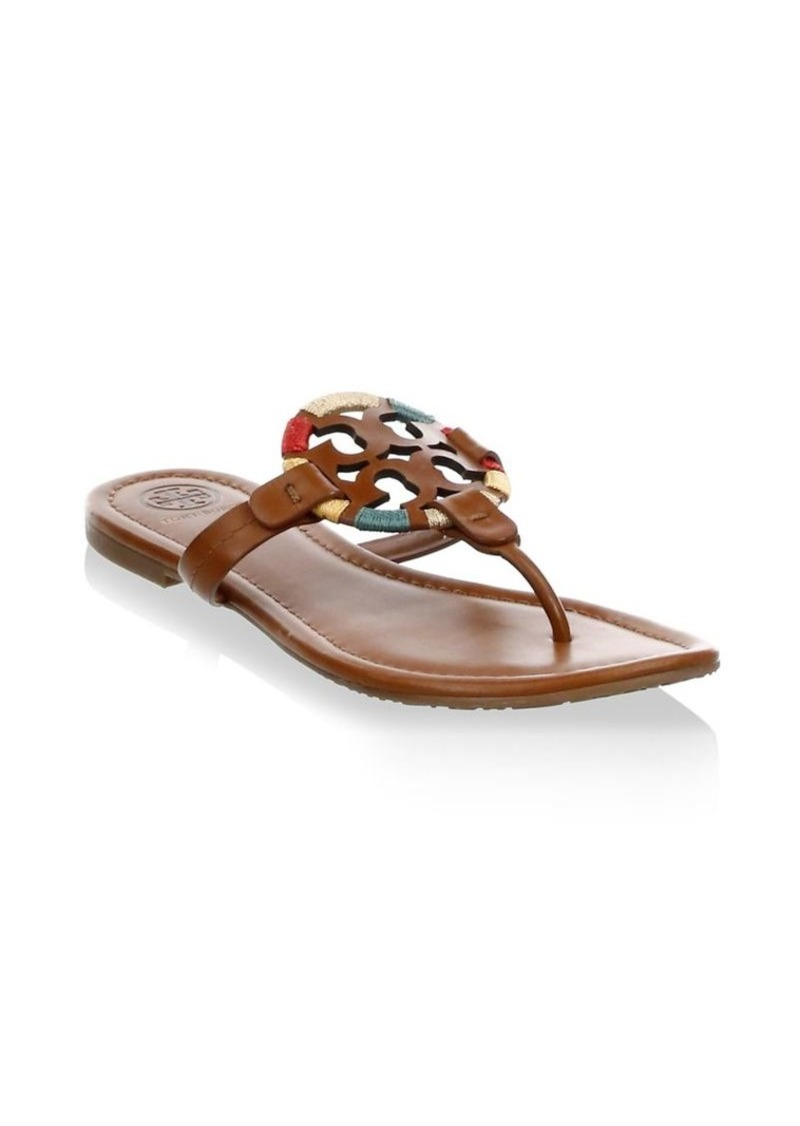 7e64409af5bb0 Tory Burch Miller Embroidered Thong Sandals Now  159.60