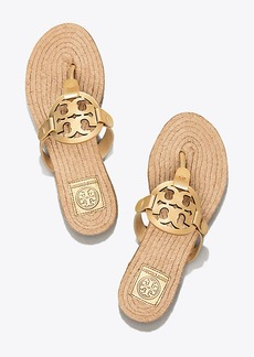Tory Burch MILLER ESPADRILLE SANDAL, METALLIC LEATHER