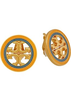 Tory Burch Miller Guilloche Clip-On Earrings