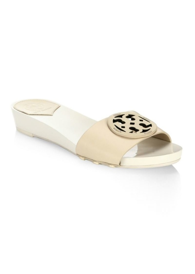 37a69a994f9 Tory Burch Miller Leather Slides Now  168.75