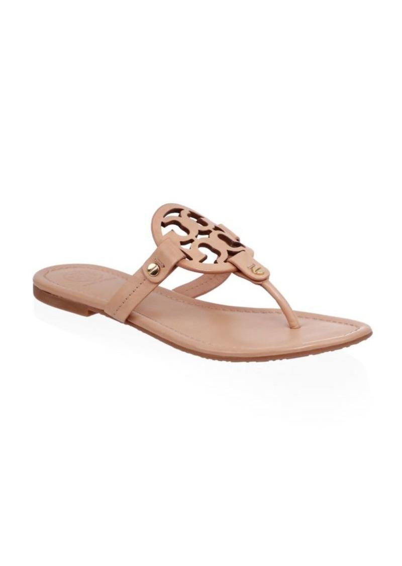 86141570c8edd9 Tory Burch Miller Leather Thong Sandals
