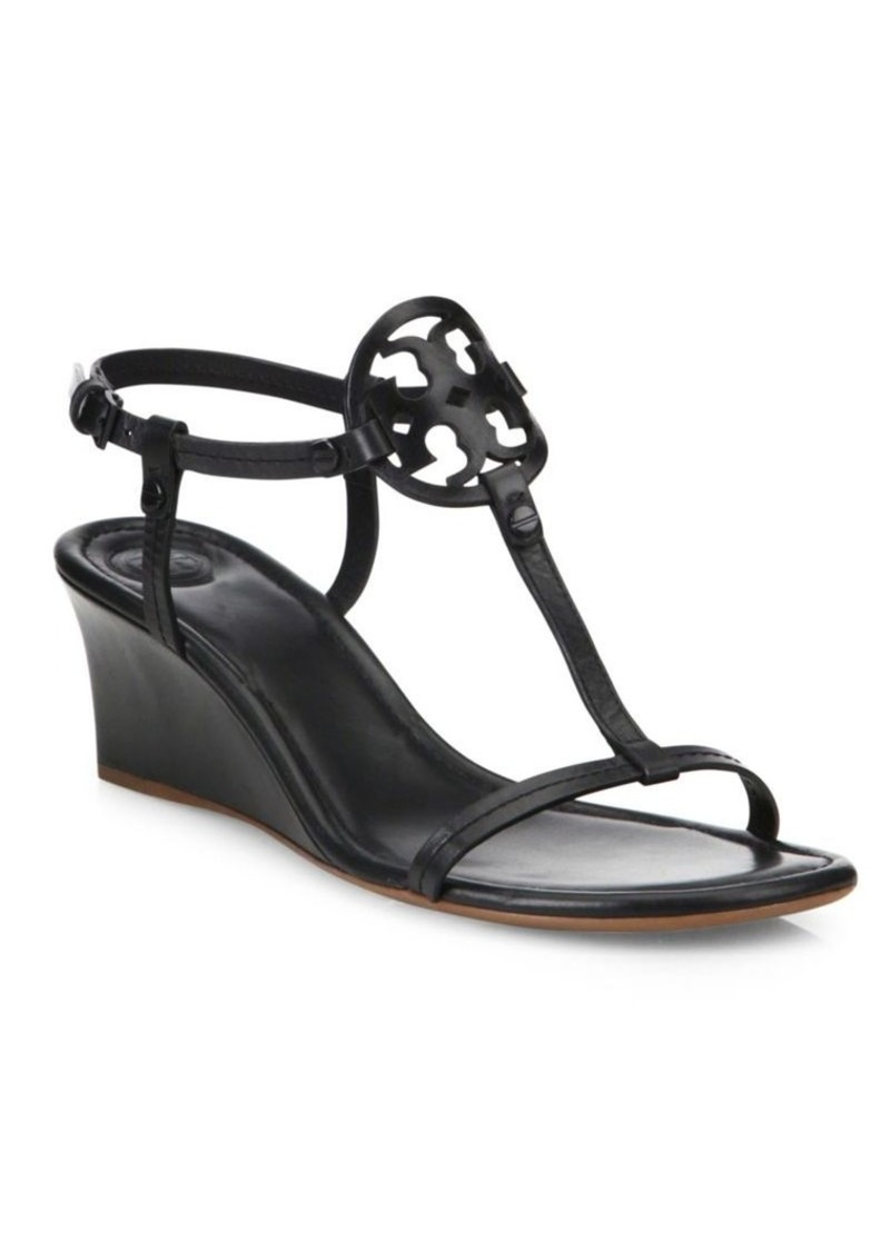 f68fc982d45bec Tory Burch Miller Leather Wedge Sandals