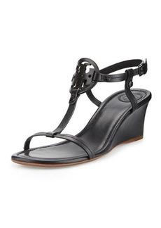 Tory Burch Miller Logo 60mm Wedge Sandals