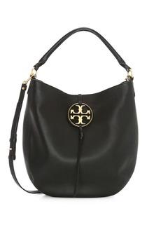 Tory Burch Miller Metal Leather Hobo Bag