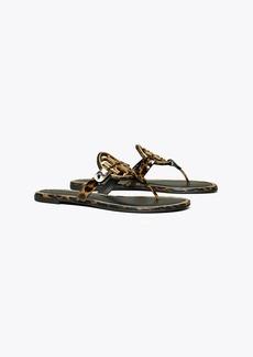 Miller Metal-Logo Sandal, Printed Patent Leather
