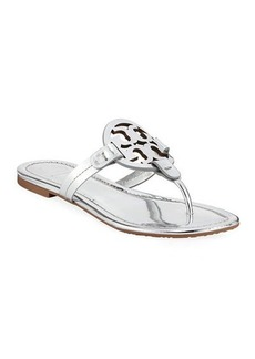 Tory Burch Miller Metallic Flat Slide Sandals