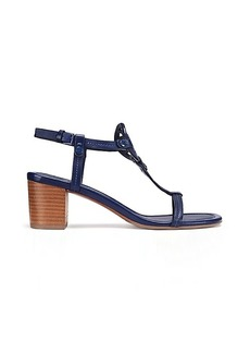 Tory Burch MILLER MID-HEEL SANDAL, LEATHER