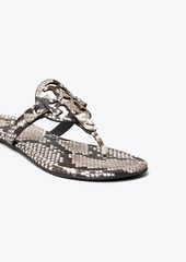 Tory Burch Miller Sandal, Embossed Leather