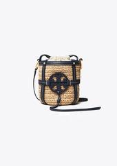 Tory Burch Miller Straw Mini Bucket Bag