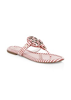 Tory Burch Miller Striped Leather Sandals