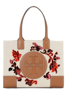 Tory Burch Mini Ella Fil Coupé & Leather Tote Bag