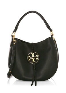 Tory Burch Mini Miller Metal Leather Hobo Bag