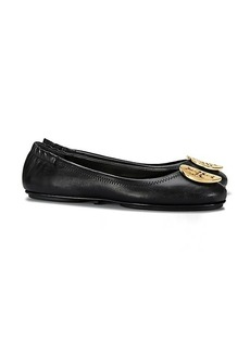 MINNIE TRAVEL BALLET FLAT, LEATHER