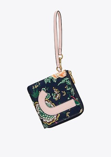 Tory Burch MONOGRAM CARD CASE KEY RING