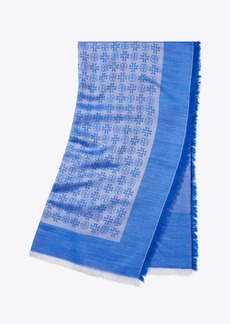 Tory Burch MULTI-LOGO OVERSIZED SQUARE SCARF
