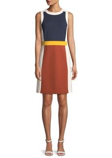 Tory Burch Mya Sleeveless Colorblock Ponte Dress