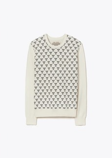 Tory Burch Net-T Jacquard-Front Sweater