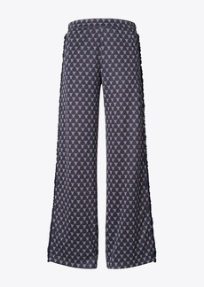 Tory Burch Net-T Ruffle Tear-Away Track Pants