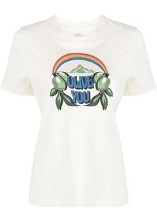 Tory Burch Olive You-print T-shirt