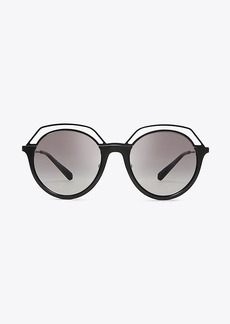 OPEN-RIM ROUND SUNGLASSES