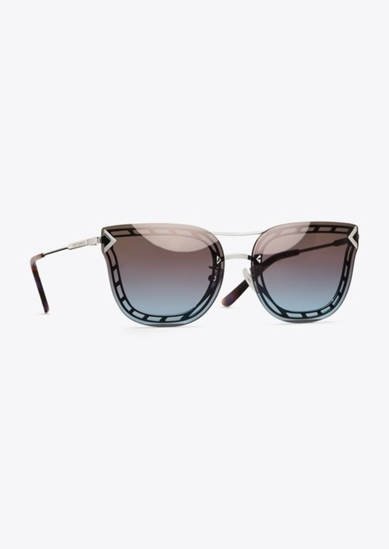Tory Burch OPEN-WIRE CAT-EYE SUNGLASSES