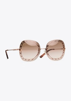 Tory Burch OPEN-WIRE SQUARE SUNGLASSES
