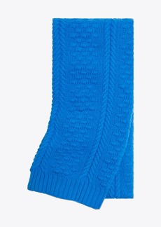 Tory Burch Oversized Merino Cable-Knit Scarf