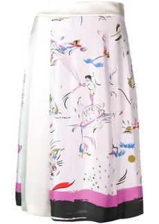 Tory Burch Painted-Border skirt