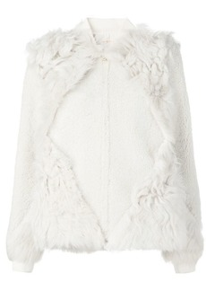 Tory Burch panelled fur jacket