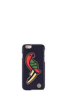 Tory Burch PARROT APPLIQUÉ LEATHER CASE FOR IPHONE 6