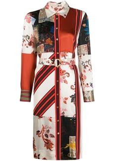 Tory Burch patchwork print shirt dress