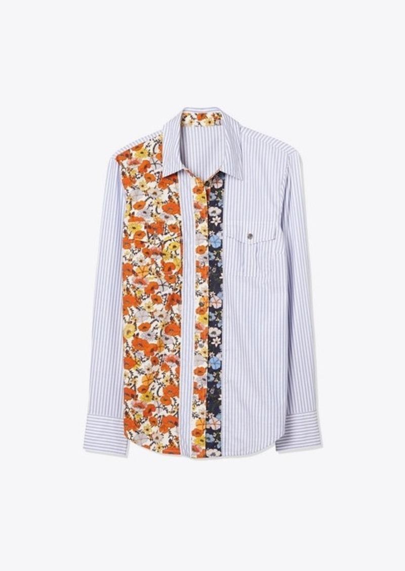Tory Burch Patchwork Printed Shirt