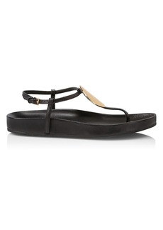 Tory Burch Patos Leather Thong Sandals