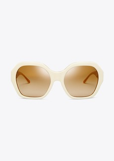 Tory Burch PATTERNED SERIF-T SUNGLASSES