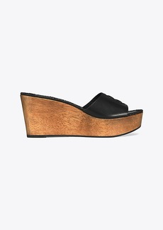 f265cbf4e Tory Burch SCALLOP FAUX FUR WEDGE SLIDE