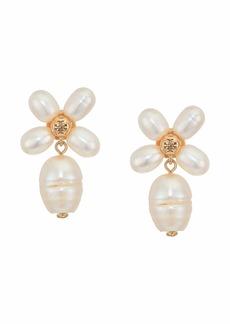 Tory Burch Pearl Clover Drop Earrings