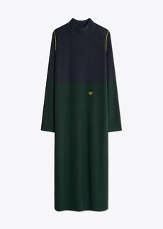 Tory Burch PERFORMANCE CASHMERE COLOR-BLOCK DRESS